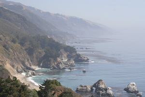 big sur coastline and ocean