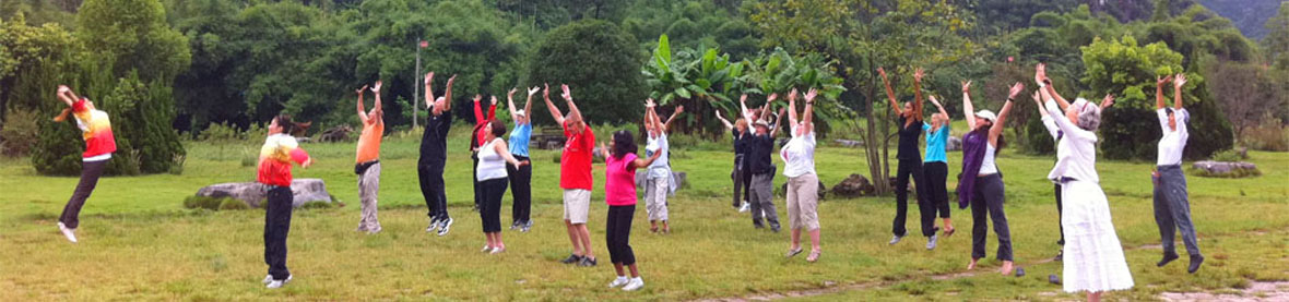 group practicing qigong