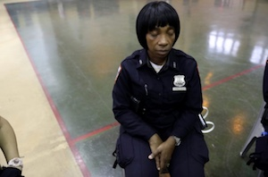 prison guard sitting in meditation