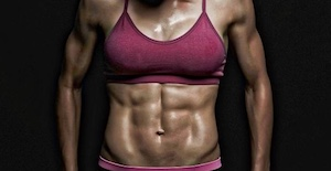 woman athlete's abs